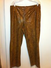 Russell Kemp Woman New York Polyester Pants Scale Print Brown Size 18