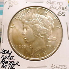 1935-P PEACE SILVER DOLLAR GEM BU/MS, BETTER DATE, NICE+, SHARP STRIKE B433