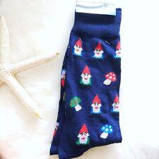 Garden Gnome & Mushroom Crew Socks New Men Novelty Gift Geek Chic