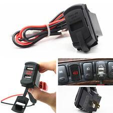 Car Red LED Voltmeter ARB Boat Panel Mount Jack Dual USB Charger Socket 12V-24V