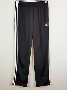 ADIDAS Mens Size M Black Essential 3 Stripe Pants