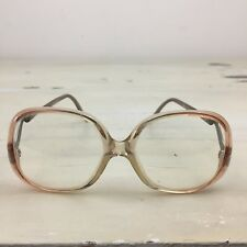 GRANDMA GLASSES - Vtg 1970s Brown & Gold Plastic Angular Granny Frames