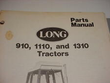 Long 910 1110 1310 Tractor Parts List Manual Very Good Used Printed In 1976