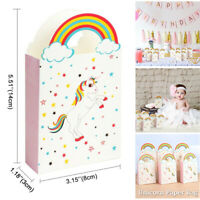 50x Paper Unicorn Bag Treat Gift Loot Bags Candy Box Kids Birthday Party Favour