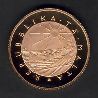 Malta  1977 50 Pounds.. Gold Proof..  .4711 oz AGW