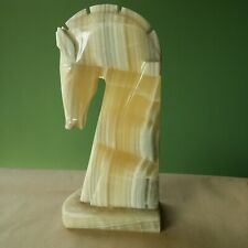 Marble Knight Statue White Marble Sculpture Stone Horse statue