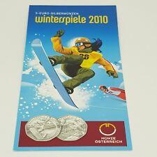 Österreich Folder-Flyer 5 Euro 2010 Winterspiele - Kostenloser Versand
