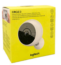 Logitech Circle 2 Wireless Security Camera with Night Vision Wire Free - White