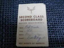 Old Vtg 1960s Boy Scouts Scoreboard Card BOB FIALA Scout Troop #122