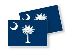 South Carolina Flag Stickers Flag Decals Vinyl Indoor Outdoor Stickers Set of 4