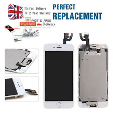 """For iphone 6 4.7"""" LCD Touch Screen White Replacement + Home Button + Camera"""