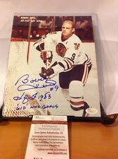HOF Hockey Bobby Hull Autographed 8x10 Photo JSA Certified