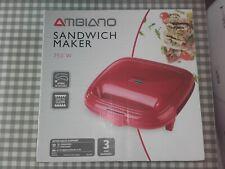 Ambiano Sandwich Maker 750W BNIB Red