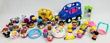 Fisher Price Little People Large Lot 26 Figures Animals w/ Car Bus Accessories