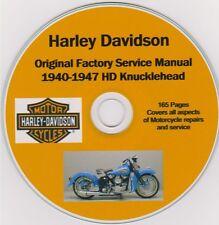 HARLEY DAVIDSON Knucklehead 1940-1947 Original Factory Shop Repair Manual