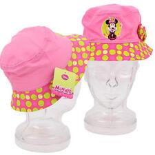 x12 Disney Minnie Mouse Girls Kids Polka Dot Bow Bucket Sun Hats Party Favor LOT