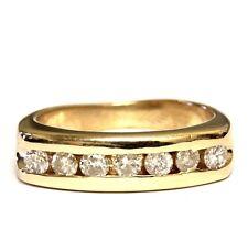 14k yellow gold .70ct Si3-I1 I diamond mens wedding band ring 8.4g vintage