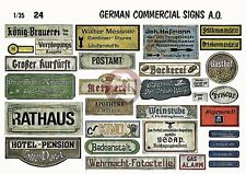Verlinden 1/35 German Commercial and Other Signs WWII [Printed Diorama Acc.] 24