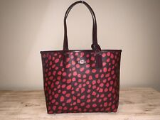 NEW COACH Raspberry Reversible City Tote Deer Spot Large Bag FREE SHIPPING NWT