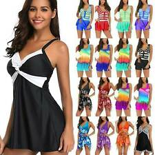 Women Tankini Bikini Swim Dress Beach Swimsuit Swimwear Swimming Bathing Suit