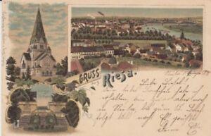 Ansichtskarte Sachsen  Gruss aus Riesa   1898