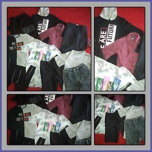 HUGE LOT~CLOTHES SHIRTS PANTS PUBLIC RECORD JOGGERS NIKE DRI-FIT BOYS SIZE 12-14
