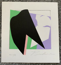 Kenneth Bushnell Abstract Litho Print (1983) Signed