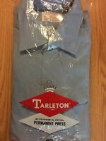 Deadstock TARLETON DRESS SHIRT vtg 60s 70s Blue  LS sz 15.5 x 33 permanent press