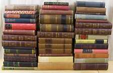 Lot of 10 ANTIQUE & VINTAGE OLD Books Decorative Set MIXED UNSORTED Hardcovers