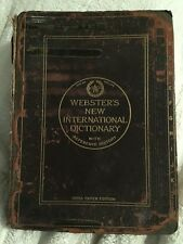 Webster's New International Dictionary India Paper Edit. Hardcover Vintage 1920