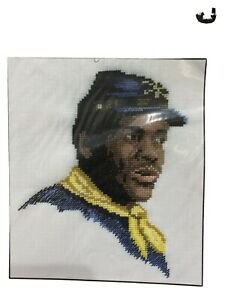 Southern Roots Buffalo Soldier Jeanne Bowers Black History Cross Stitch Civil