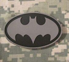 BATMAN LOGO 3D RUBBER PVC ACU USA ARMY VELCRO® BRAND FASTENER MORALE PATCH