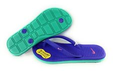 dfff2f21845 Nike Solarsoft Thong 2 Purple   Green Sandals Shoes Girls Size 1 Flip Flops