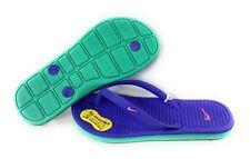 37d0a5946 Nike Solarsoft Thong 2 Purple   Green Sandals Shoes Girls Size 1 Flip Flops