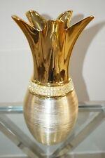 Luxury Golden Italian Style Vase Bling Ceramic Beautiful Christmas Gift Decor