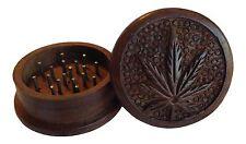 "2"" 2 Piece Wood Tobacco Spice Herb Grinder Leaf BUY 2 GET 1 FREE!!!!! wooden"