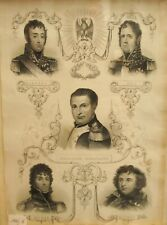 Kupferstich Stich Napoleon Bonaparte Generäle John Tallis Kleber Murat Ney Masse