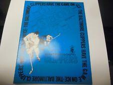 1972 AHL HOCKEY PROGRAM BALTIMORE CLIPPERS VERY RARE VS PROVIDENCE REDS RARE