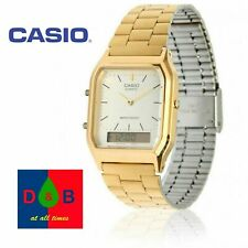 Casio Unisex AQ-230GA-9DMQYES Analogue Digital Watch Gold Tone Combi RRP£40 WoW