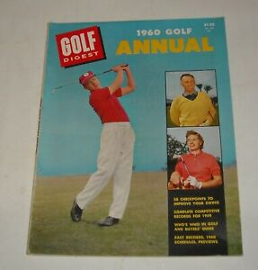1960 GOLF DIGEST ANNUAL MAGAZINE BUYER's GUIDE WHO's WHO SCHEDULES RECORDS