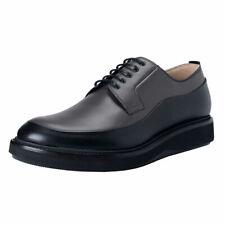 Dior Men's Gray Black Leather Derby Oxfords Shoes Sz 7 8 8.5 9 10