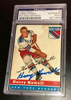 HARRY HOWELL SIGNED TOPPS 1954 RANGERS CARD #3 PSA/DNA AUTHENTIC 83710609