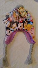Disney Tsum Tsum Hat with ear flaps and gloves set Girls NWT girls one size 4-14