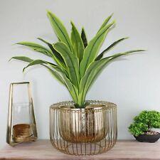Planter or Bowl Metal Wire Retro Home Decor Ornament Gold Large