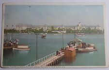 1911 Postcard Of The Royal Poinciana From Across Lake Worth Palm Beach Florida