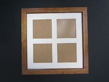 Antique Pine Wooden 12x12 Square Multi Aperture Picture Photo Frame 4x4 Photos