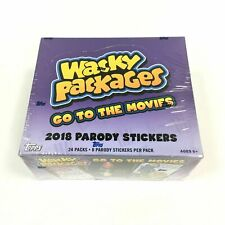 [HOBBY BOX] 2018 Topps WACKY PACKAGES Factory Sealed GO TO THE MOVIES 24 Packs