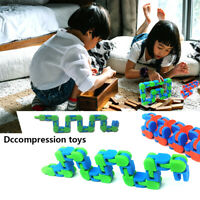 Tracks Snake Fidget Toy Anxiety Stress Relief Kids Adults Sensory Toys US