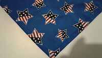 Patriotic Dog Bandana Tie On Custom Made by Linda XS S M L