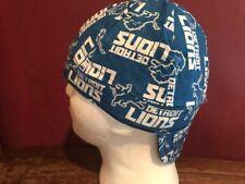 NFL Detroit Lions Size 7 3/4 Welder Cap/Hat Bikers Pipefitter Lineman